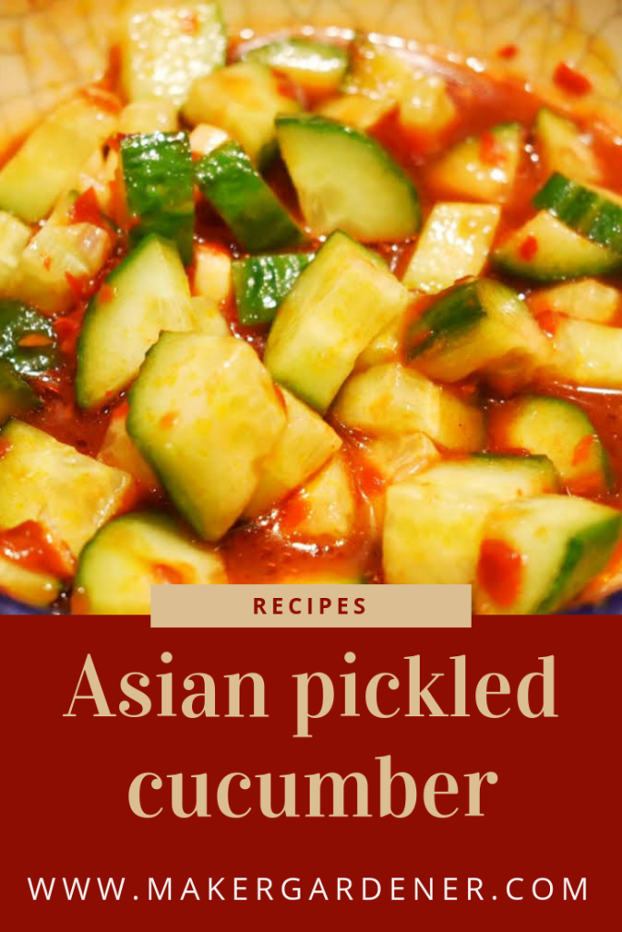 Asian pickled cucumber