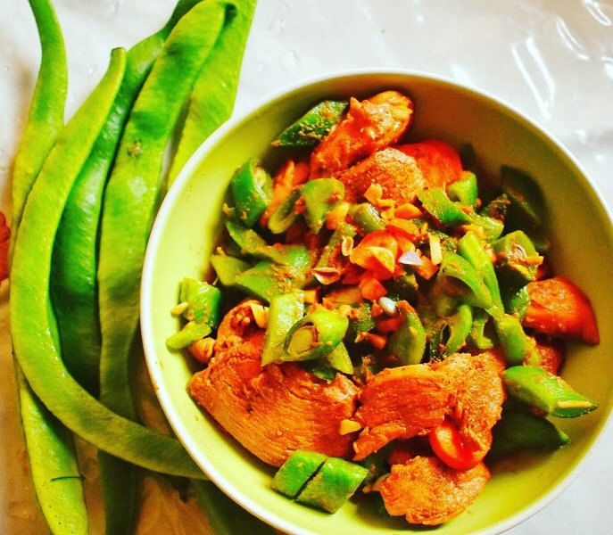 Runner bean chicken stir fry recipe