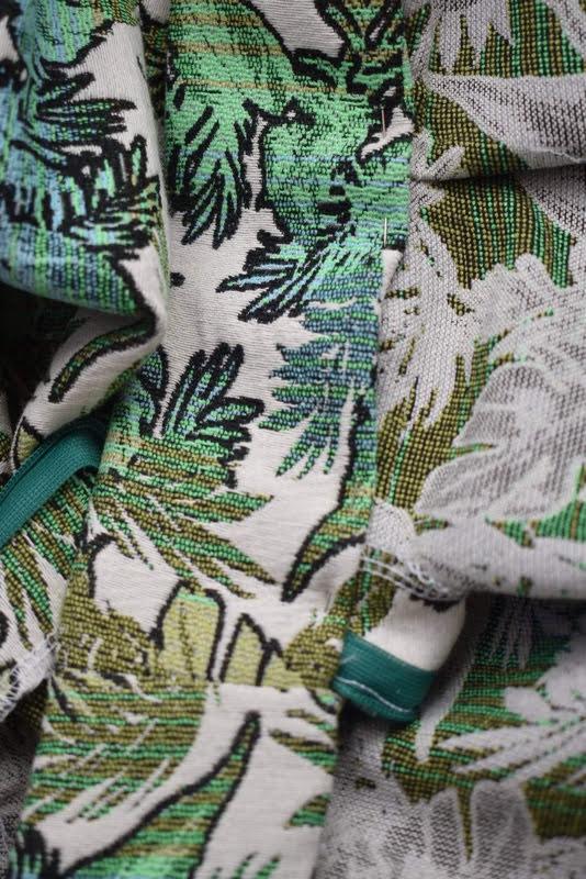 setting waistband onto skirt