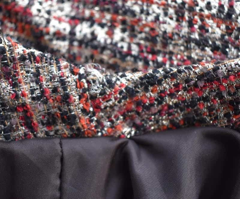 How to sew boucle fabric