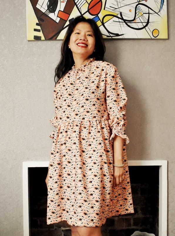 Elastic shirring dress