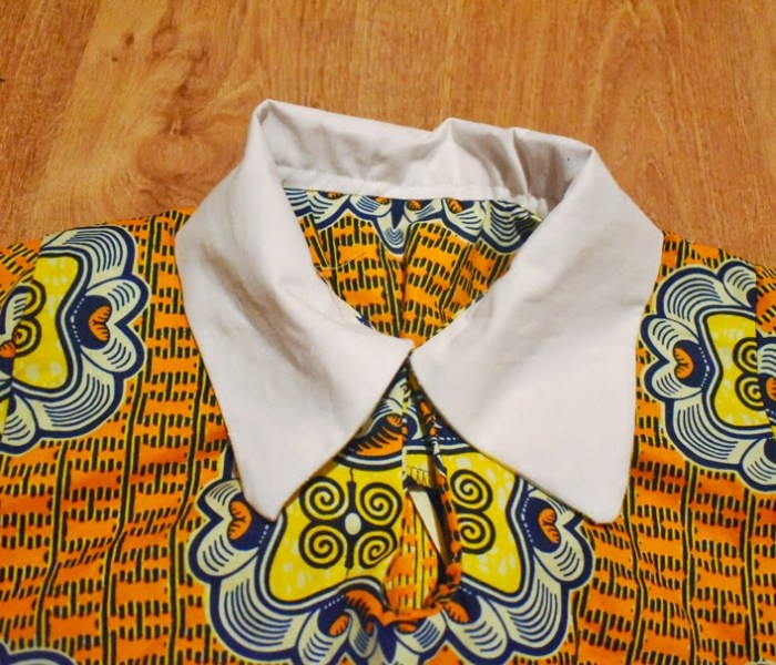 How to sew angle collar at home