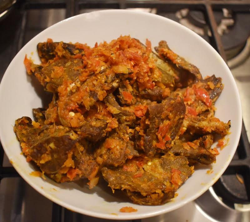paru berlado (fiery spicy lung)