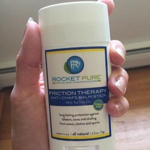 I am loving #RocketPure anti chafe balm stick #FrictionTheraphy @RocketPure @Rocket_Pure