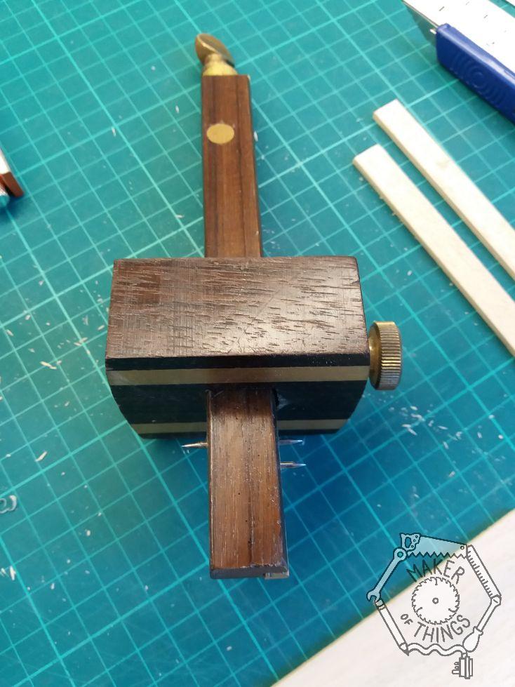 A cabinet makers mortice gauge.