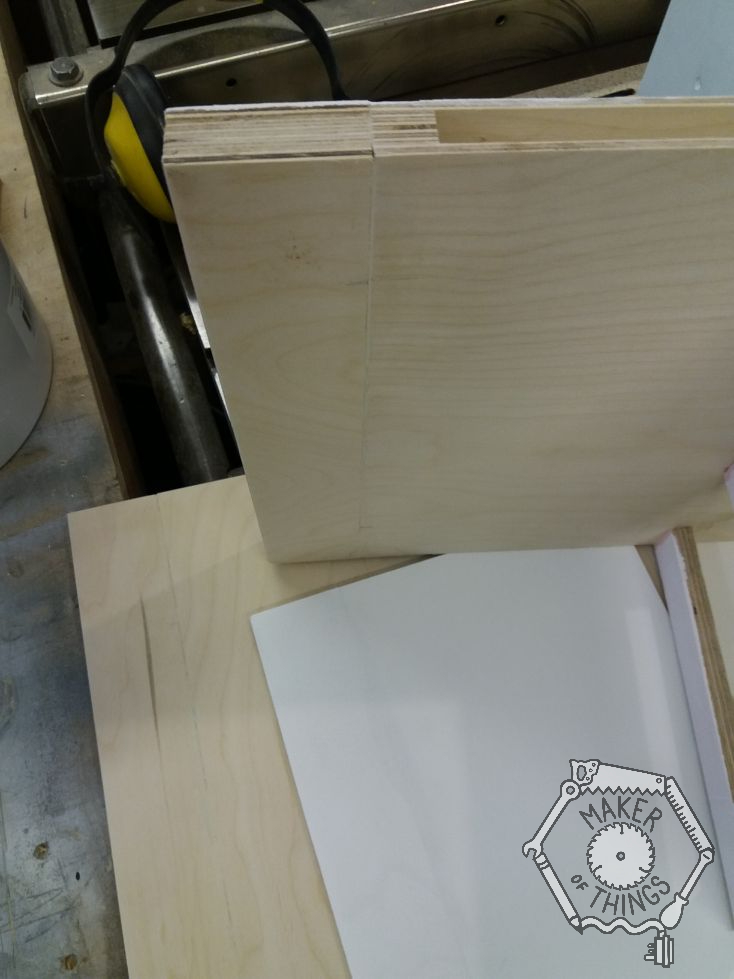The edge of the hollow core floor with an extra 40mm of plywood added to the edge.