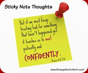 wait with confidence - let go and let God