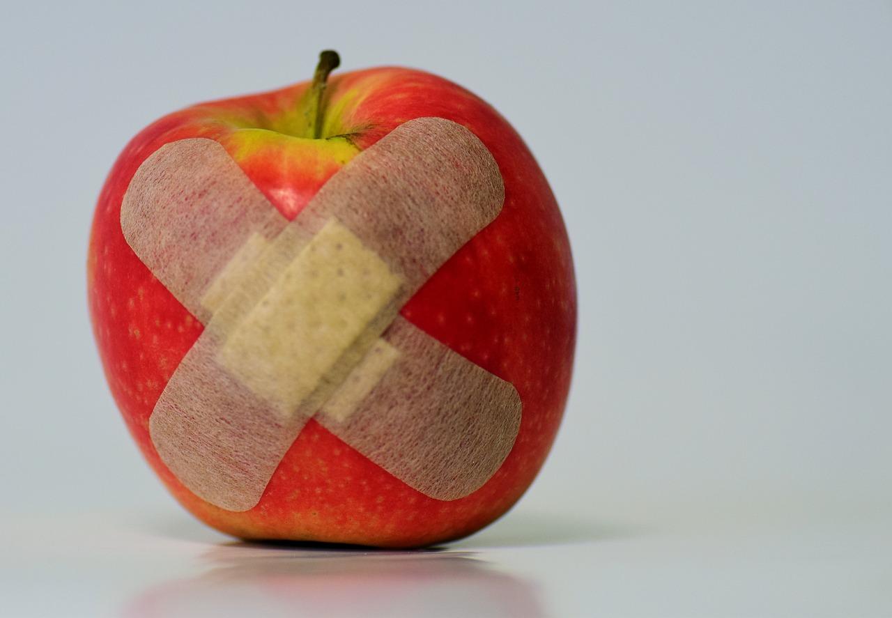 apple band aids - healing
