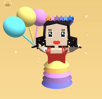 My Makers Empire Avatar - Rainbow Dress Edition