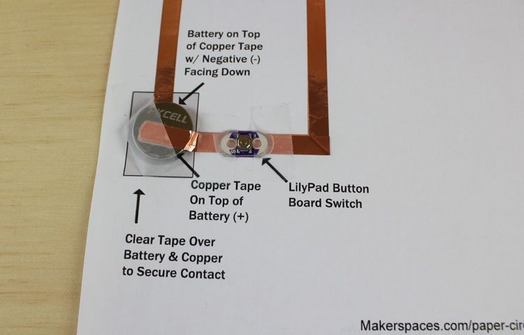 lilypad switch and coin cell battery