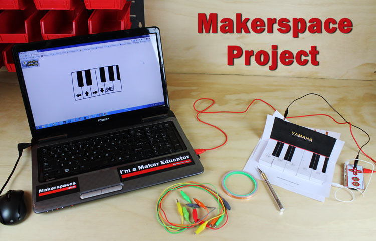 Makey makerspace project make a piano learn