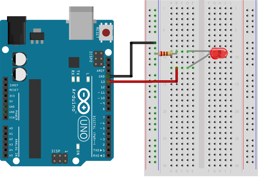 simple arduino uno projects for beginners step by step tutorialsimple arduino projects blink sketch circuit