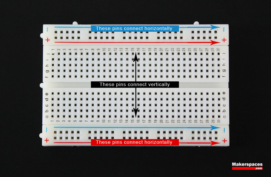 introduction to basic electronics, electronic components and projectsarduino breadboard connection direction