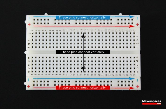arduino breadboard connection direction
