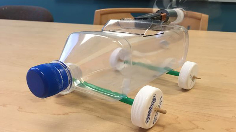 electric bottle car stem makerspace projects