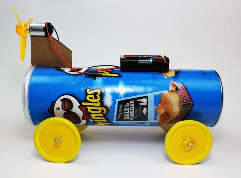electric battery powered propeller car