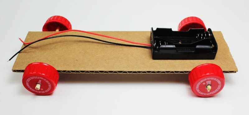 simple electric propeller car battery holder