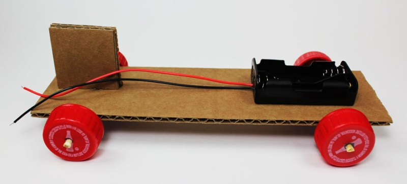 simple electric propeller car motor