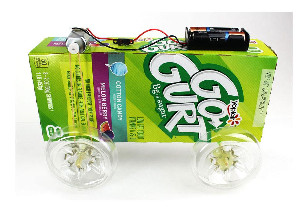 DIY Mini Electric Battery Car Stem Science Fair Project