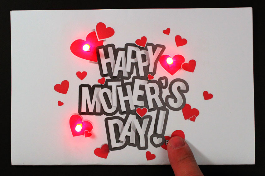 Mothers Day Paper Circuit Card Stem Project