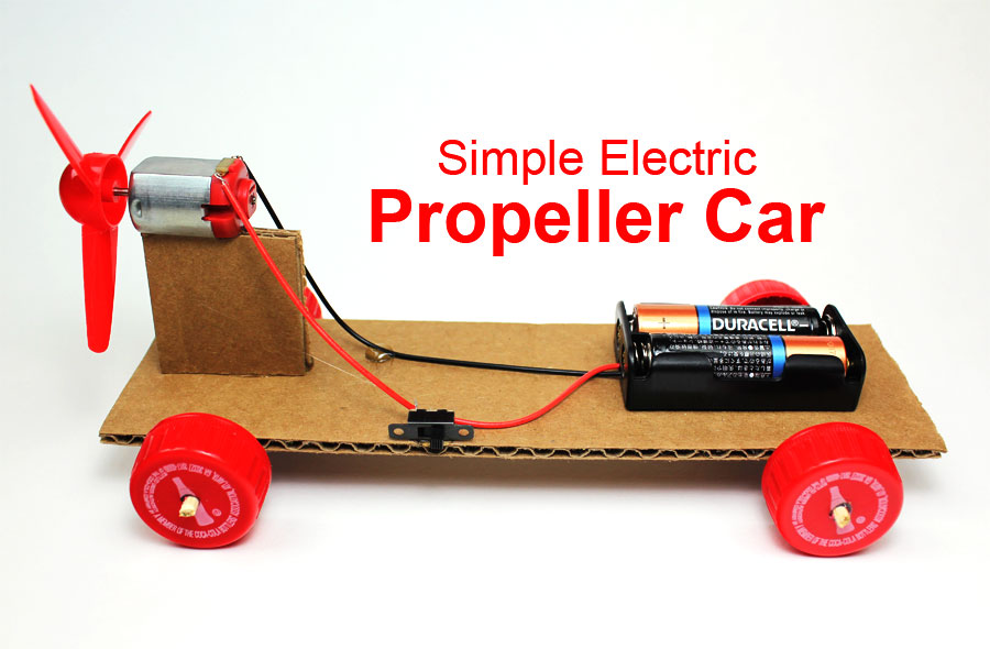 Simple Electric Propeller Car Tutorial Steam Project