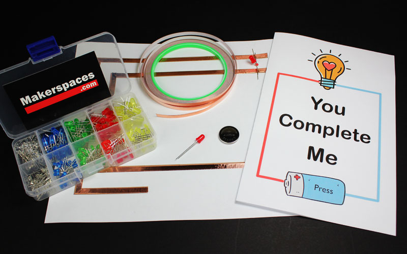 light up valentines day card makerspace project