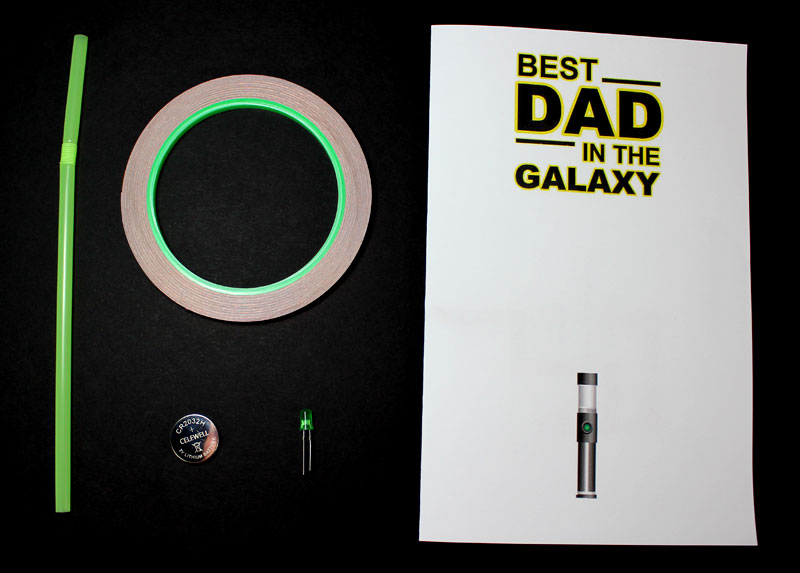 fathers day paper circuit materials