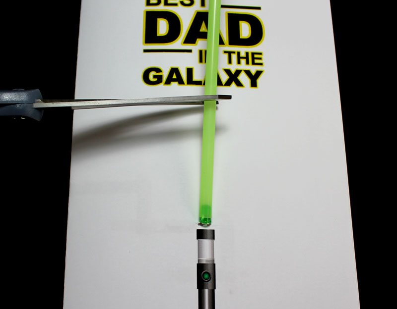 light saber fathers day straw