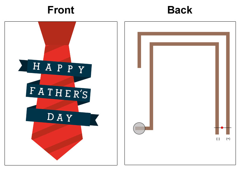 happy fathers day card light up