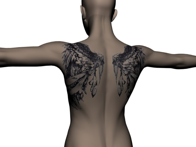 This is the best set of tattoo wings I've seen yet.