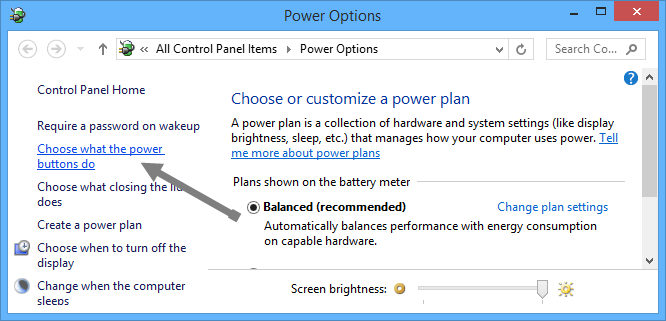 Make-Space-Clean-Up-C-Drive-Power-Optionen