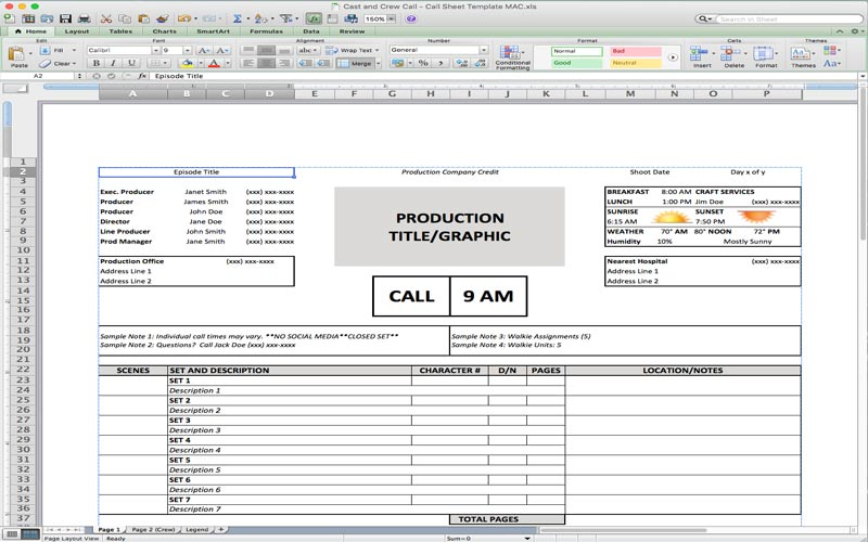 5 Useful Microsoft Excel Templates For Indie Film Tv