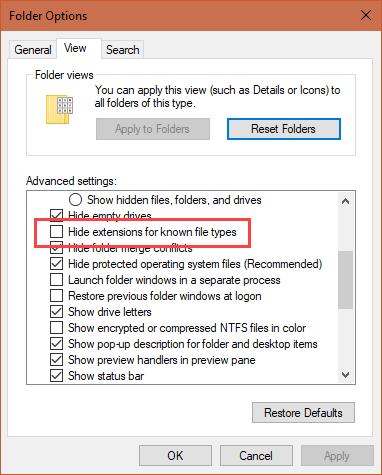 Windows-Ordneroptionen neu installieren