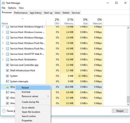 Windows-10-Start-Menü-Suche-nicht-funktionierende-Task-Manager