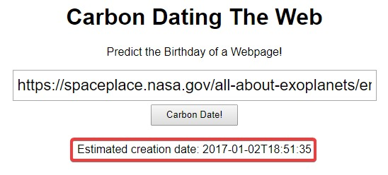 Website-Datum-Erstellung