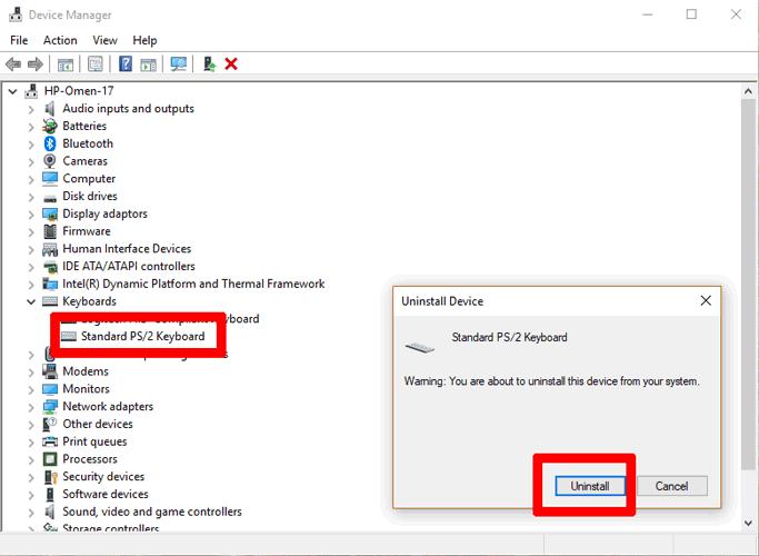 Laptop-Tastatur-funktioniert nicht-deinstallieren