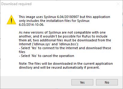 Rufus-zusätzliche-Dateien-Download-Eingabeaufforderung