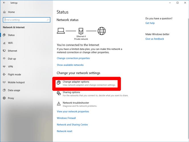Windows Store funktioniert nicht Ändern Sie die Adapteroptionen