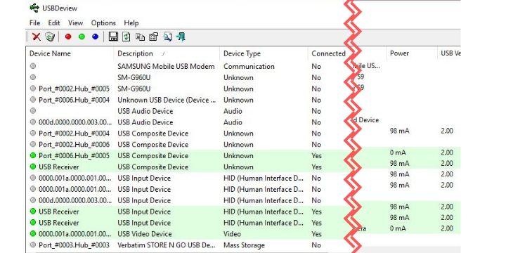 USB Power USB-Übersichtsbildschirm