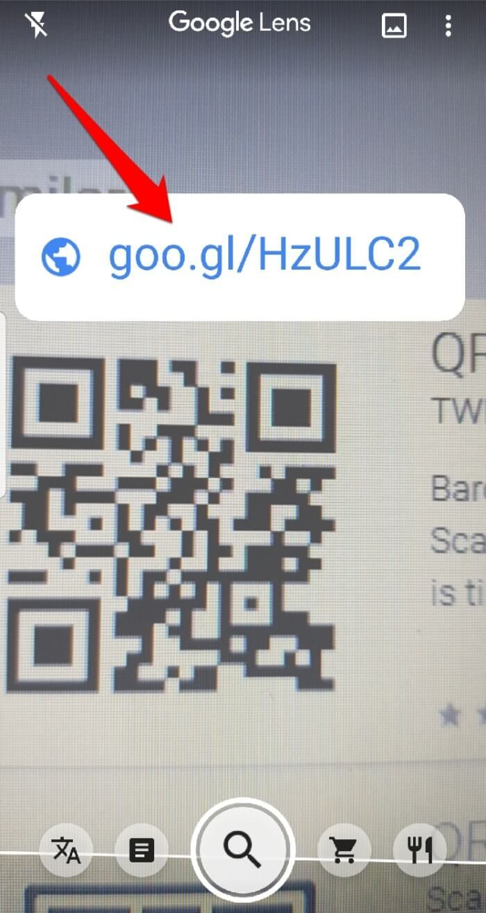 Read Qr Code Android Google Lens Scanned