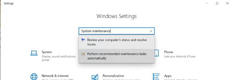 Windows reagiert nicht auf Systemwartung