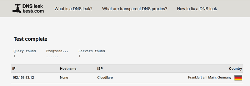 Dns Over Https Leak Test