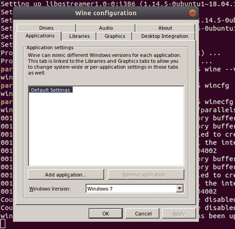 Linux Wine Configuration