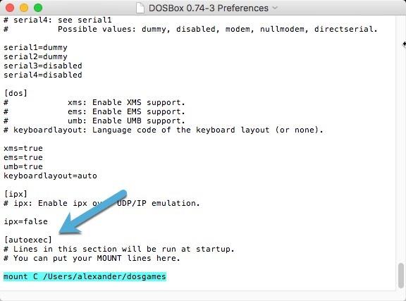 Dosbox Preference Autoexec Mount Command