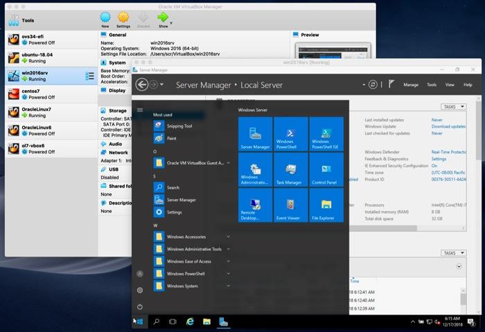 Virtualbox vs. VMware Virtualbox X