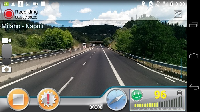 Dashboard Android Autoguard Dashcam 1