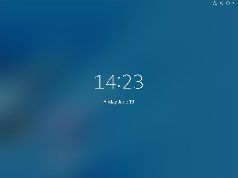 Gnome Lock Screen