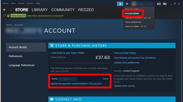 Steam funktioniert nicht Öffnen von Paypal 1