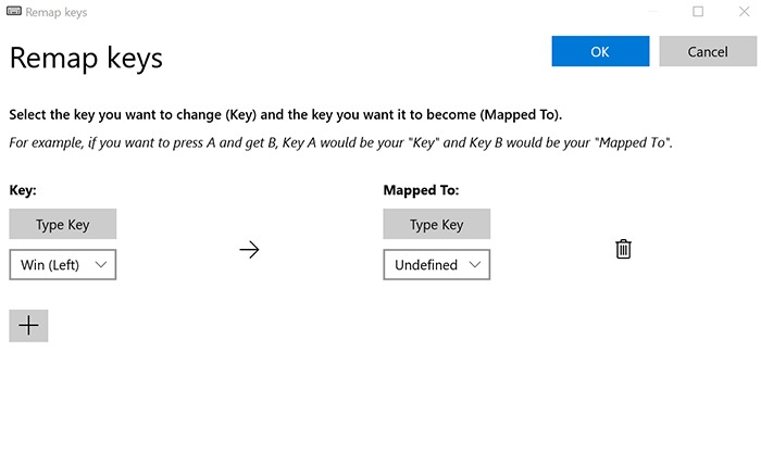 Remap Windows Key Redefine