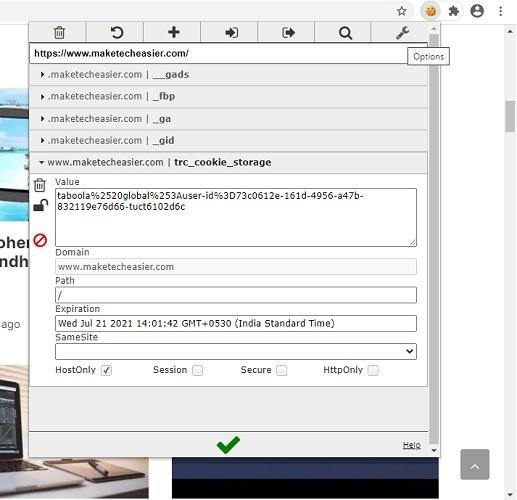 Chrome Web Editthiscookie 1